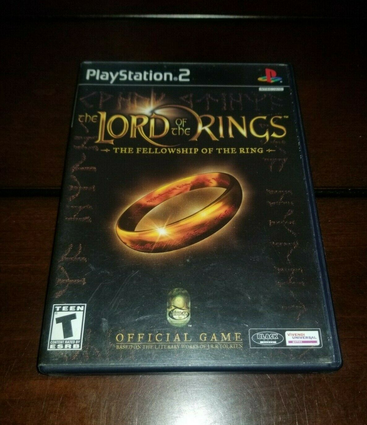Lord of the Ring The Fellowship of the Ring Black Label PS2 EXMT **Inv03093**