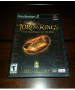 Lord of the Ring The Fellowship of the Ring Black Label PS2 EXMT **Inv03... - $9.26
