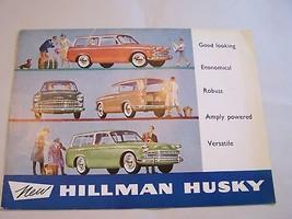 1963  HILLMAN  MINX  OWNERS SALES BROCHURE  PARTS - $24.99