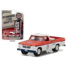 1962 Dodge D-100 Pickup Truck Long Bed with Tool Box Red Crown Gasoline ... - $11.78