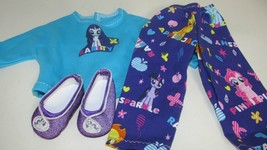 """18"""" doll clothes hand made pajama outfit shoes My Little Pony Rarity top... - $12.86"""