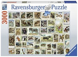 Ravensburger 17079 Animal Stamps 3000 Piece Puzzle Jigsaw, Multicolor - $35.51