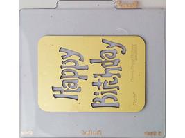 Sizzix Metal Embossing Plate, Happy Birthday #38-9680