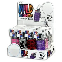 1x Mini BIC Lighter Holder- ONE Cover with Design and Color Maybe Vary