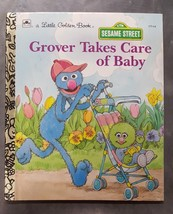 Grover Takes Care of Baby by Emily Thompson A Little Golden Book Sesame ... - $9.85