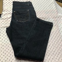 Style & Co Womens Sz 6 Jeans Dark Denim Slim Leg Cotton Blend - $11.29