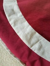 "New Arctic Holiday Christmas 56"" Tree Skirt Deep Red, Beige FREE SHIPPING - $39.59"