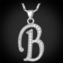 U7 Name Jewelry Alphabet B Letter Necklaces & Pendants Gold/Silver Color Cubic Z - $14.29
