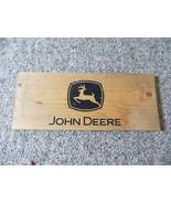 John Deere logo wood advertising tractor implement dealer original crate... - $32.06