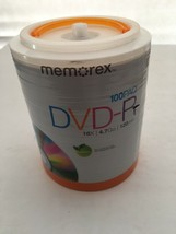 Memorex 32020034420 16X DVD-R 100 PK, 100 pack DVD-R Tote NEW  - $37.95
