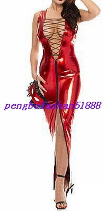 New Fancy Dress Suit Sexy Red Shiny Metallic And 35 Similar Items
