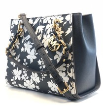 NEW WOMENS MICHAEL KORS SOFIA MEDIUM NORTH SOUTH NAVY FLORAL CHAIN TOTE ... - $2.204,45 MXN