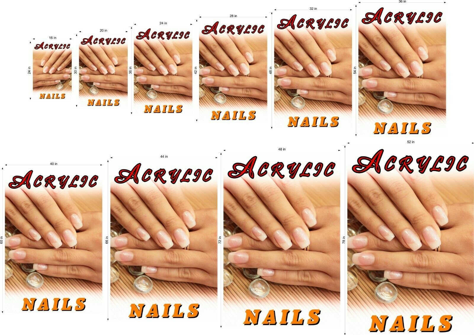 Acrylic IV Photo-Realistic Paper Poster Matte Nail Salon Non-Laminated Vertical