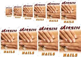 Acrylic IV Photo-Realistic Paper Poster Matte Nail Salon Non-Laminated Vertical image 1