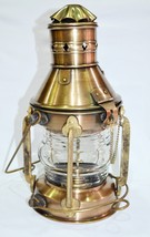 Antique Ship Oil Lamp Antique Shiny Brass Hanging Oil Lantern Home Decor... - $70.00