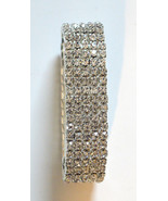 Bracelet for Women Elastic 5 Row Crystal Band SHINY Brand New Great Gift! - $9.95