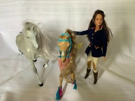 1997 Mattel Barbie Riding Club Doll with Two horses and Accessories - $37.39