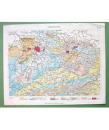 BOTANICAL COLOR PRINT: Geology Geological Map of Central Europe - $7.27