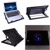 Laptop Cooling Pad Usb Dual Fan Cooler Notebook Portable Led Stand Compu... - €26,39 EUR