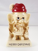 Santa Mouse Merry Christmas Sculpture Figurine Vintage Russ Wallace Berr... - $19.79