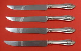 Mount Vernon by Lunt Sterling Silver Steak Knife Set 4pc Texas Sized Custom - $247.10