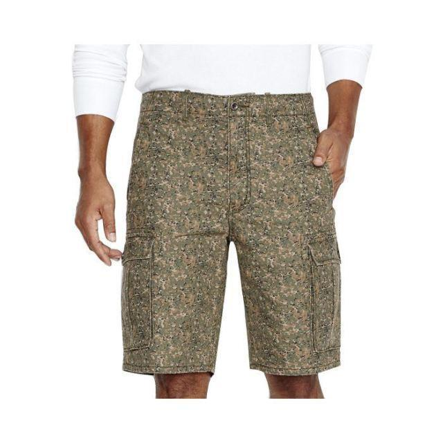 New Levi's Men's Premium Cotton Squad Camo Cargo Shorts Camouflage 366100162