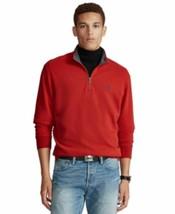 Polo Ralph Lauren Luxury Jersey Quarter-zip Pullover Red Sz L - $55.43