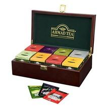 Ahmad Tea Keeper Wooden Box with 80-Count Assorted Tea Bags - $46.99