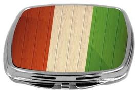 Rikki Knight Tajikistan Flag Compact Mirror Distressed Wood Design NEW - $12.00