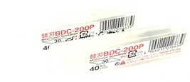 LOT OF 2 NEW PACKS OF 40 NT CUTTER BDC-200P SPARE BLADES BDC200P image 2