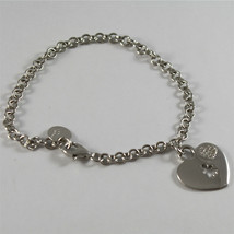 925 SILVER, AQUAFORTE BRACELET, HEART CHARMS, RHODIUM SILVER, FACETED ZIRCONIA. image 1