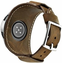 Samsung Galaxy Watch Band 46mm Vintage Replacement Genuine Leather Cuff ... - $46.75