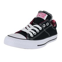 CONVERSE WOMENS ALL STAR MADISON SHOES BLACK WHITE VIVID PINK - $76.50