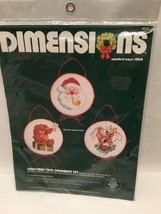 Dimensions Kit 8323 Christmas Trio Ornament Makes 3 Counted Cross Stitch  Sealed - $11.26