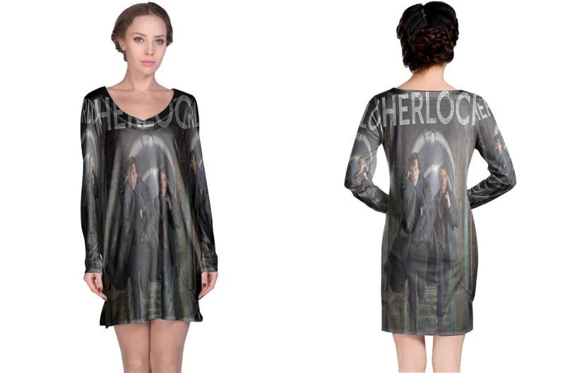 Sherlock holmes tv show uk long sleeve night dress
