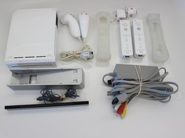 Nintendo Wii White Console (NTSC) Console with multiple accessories!!!  - $59.99