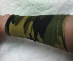 Camouflage Fashion Wristband Wrist Bracelet Cuff Tattoo Cover Up One Pair - $7.00