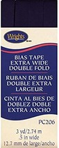 """Wrights 1/2"""" Extra Wide Double Fold bias tape PC 206 - 3  Seal Brown   206 092 - $7.55"""