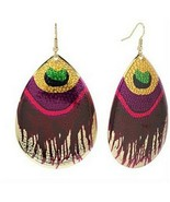 Mudd Peacock Teardrop DangleDrop Earrings - $11.86