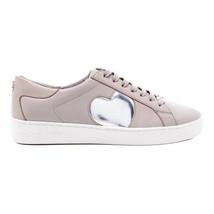 Nwob Michael Kors Keaton Heart Pink Leather Trainers Shoes Sz 9 - $129.99