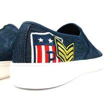 Steve Madden Wasdin Navy Blue or Military Denim Slip On Loafers Mens Vintage image 6