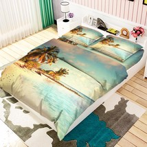 3D Shiny Beach 2 Bed Pillowcases Quilt Duvet Cover Set Single Queen King Size AU - $90.04+