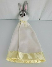 Looney Tunes Bugs Bunny Security Blanket Baby White Yellow Satin Fleece - $98.98