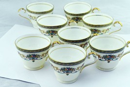 Set of 8 Henley by Aynsley Porcelain Tea Cups - $57.91