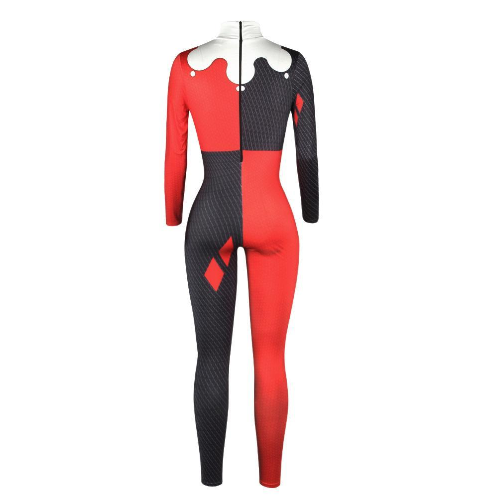 Squad Harley Quinn Jumpsuit Catsuit Sexy Cosplay Costumes Halloween Women