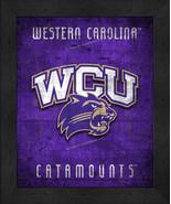 "West Carolina Catamounts ""Retro College Logo Map"" 13x16 Framed Print  - $39.95"