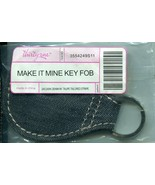 """Thirty-One """"Make It Mine Key Fob"""" Dark Denim w/Taupe Tailored Stripe - B... - $4.00"""