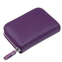 Genuine Leather Credit Card Holder Wallet for Men and Women - $17.17