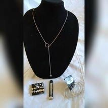 Fashion Jewelry Earrings Silver Spearhead Long Necklace Ring Set Holiday Gift  - $35.06