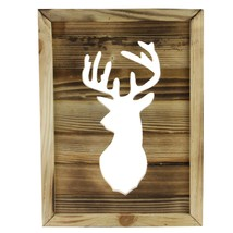 "Northlight 13.75"" Framed Rustic Wood Deer Cut-Out Wall Hanging Decoration - $19.79"
